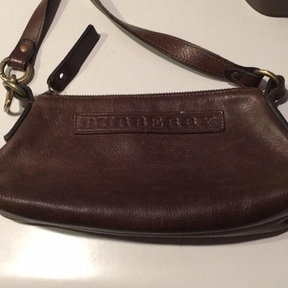 be6f37a20758 Burberry Handbags - Vintage Burberry London leather crossbody bag